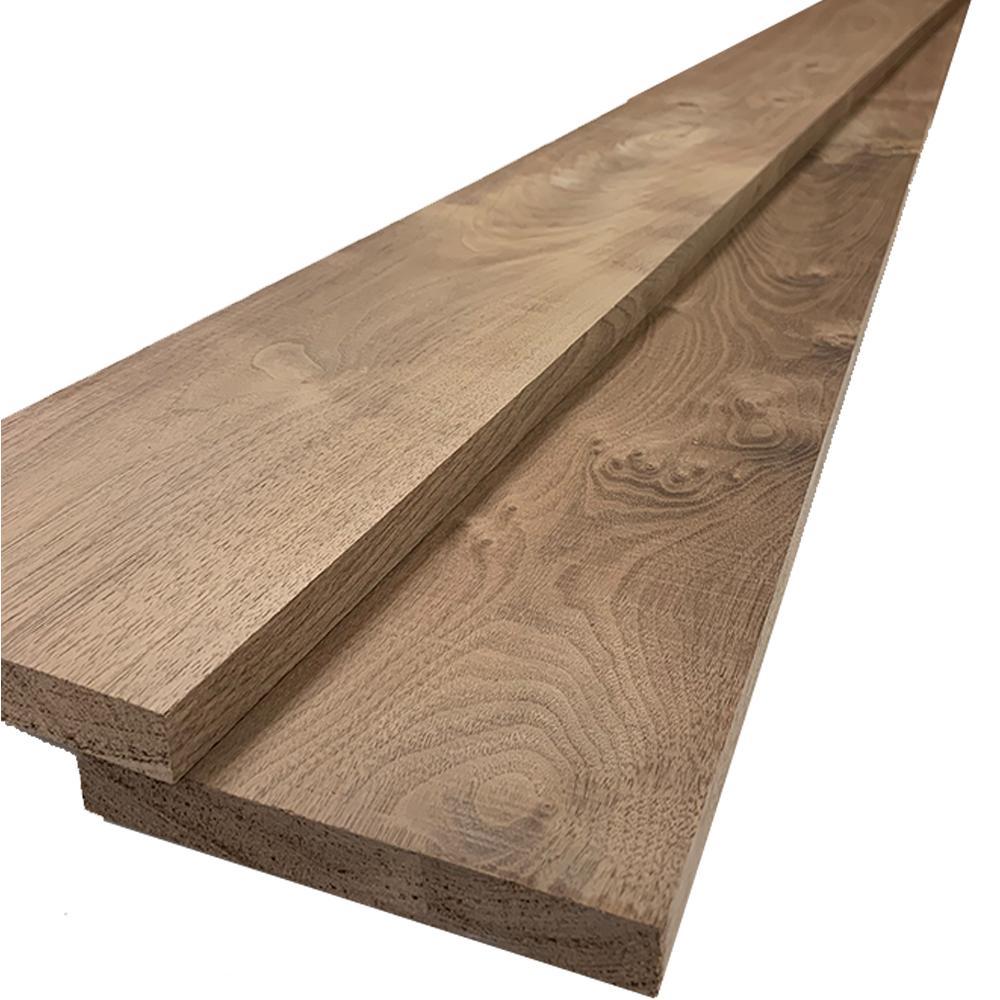 1 in. x 6 in. x 7 ft. Walnut S4S Board (2-Pack)