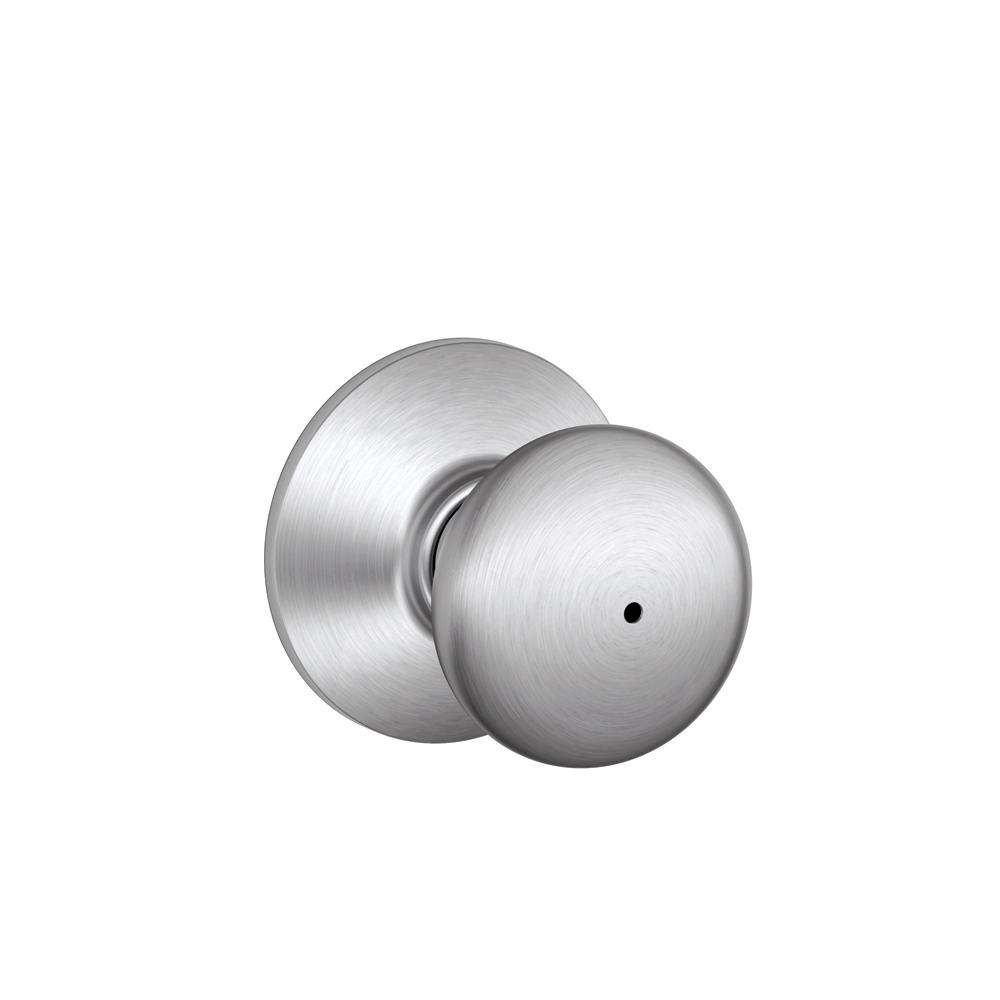 Schlage Plymouth Satin Chrome Bed and Bath Knob