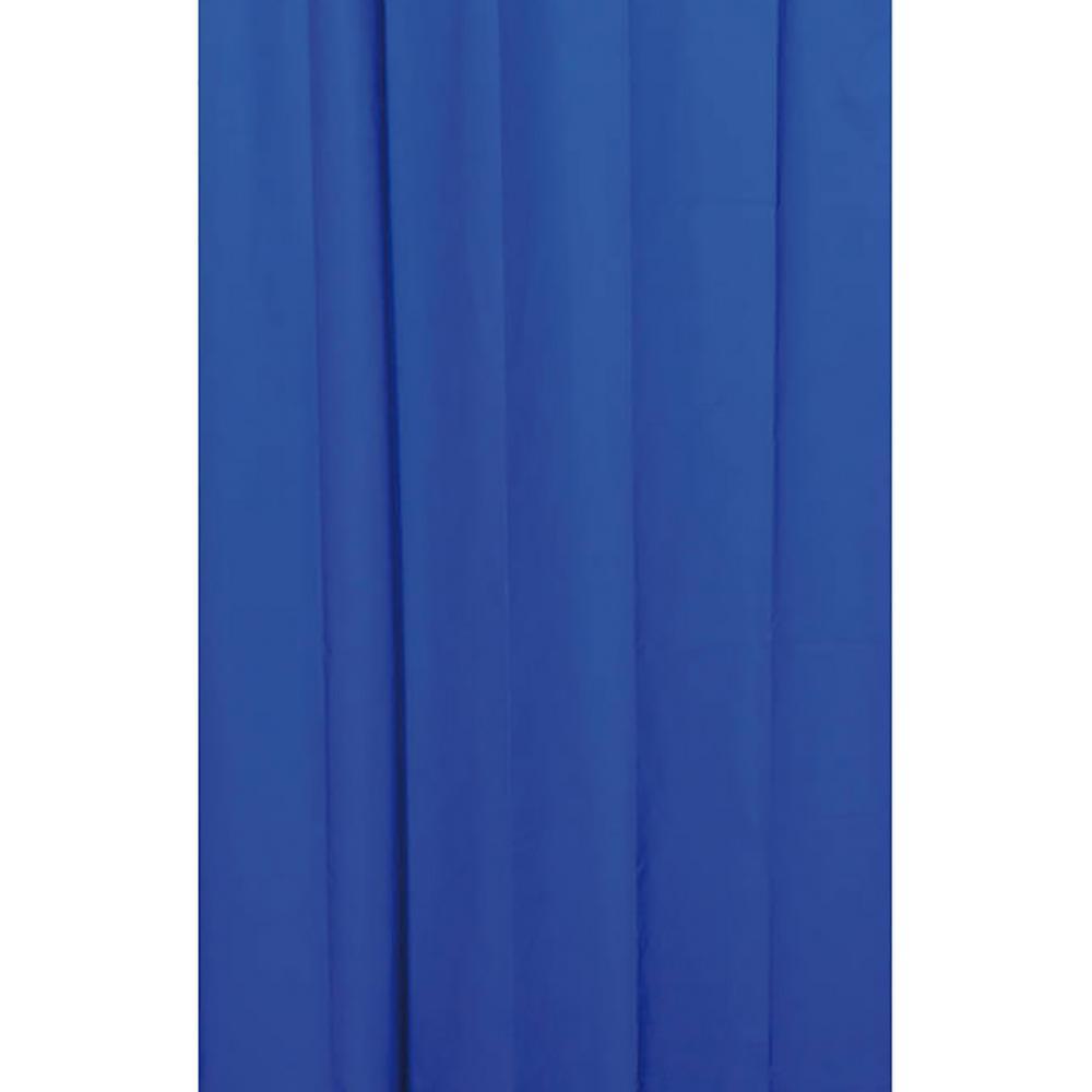 Solid Eva 71 in. x 79 in. Navy Blue Bath Shower Curtain