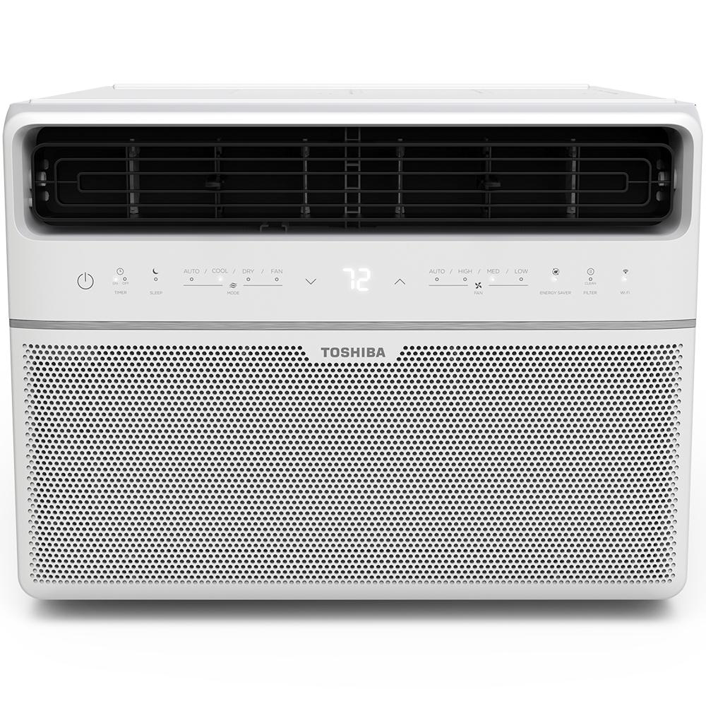 Toshiba 12,000 BTU 115-Volt Smart Wi-Fi Window Air Conditioner with Remote and ENERGY STAR in White