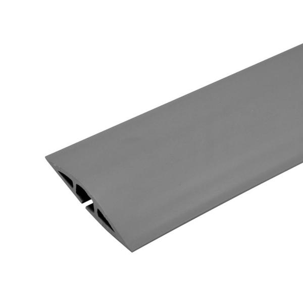Wiremold Corduct 50 ft. 1-Channel Over-Floor Cord Protector, Gray