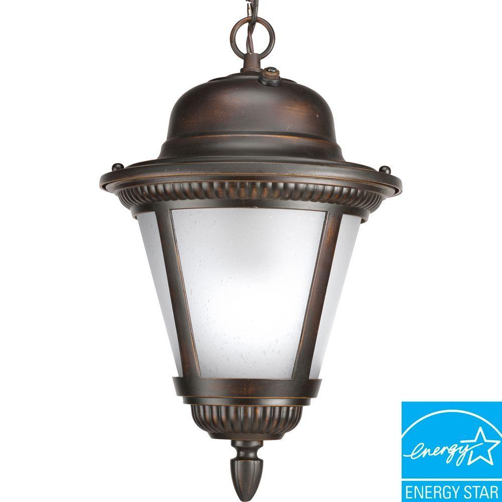 Progress Lighting Westport Collection Antique Bronze 1-light Hanging Lantern-DISCONTINUED