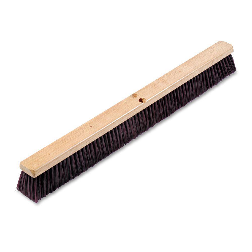 36 in. Maroon Stiff Polypropylene Floor Brush Head with 3-1/4 in. Brush