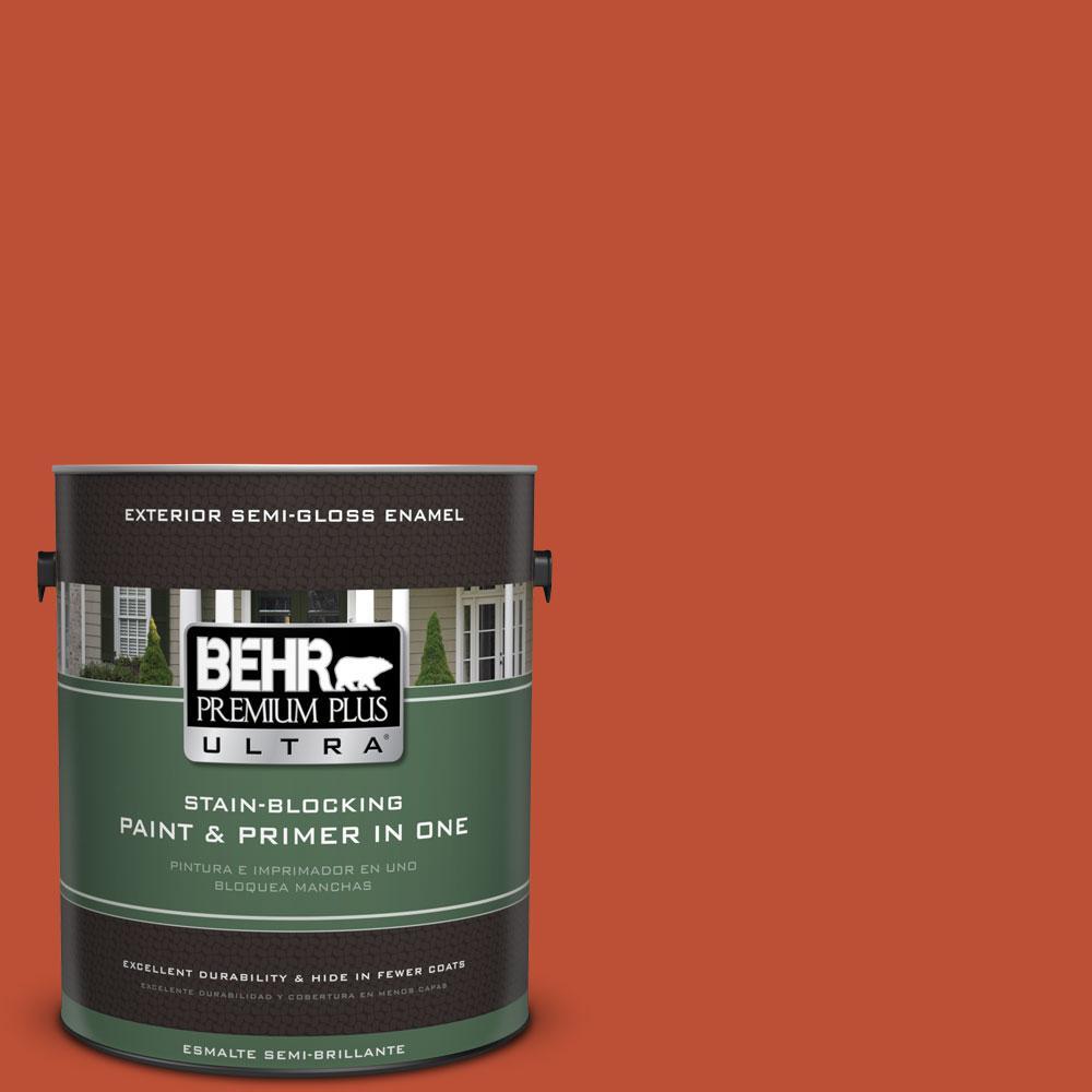 BEHR Premium Plus Ultra 1-gal. #S-G-200 Glowing Firelight Semi-Gloss Enamel Exterior Paint