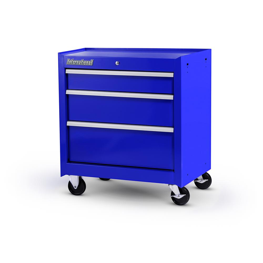 International Workshop Series 27 in. 3-Drawer Cabinet, Blue