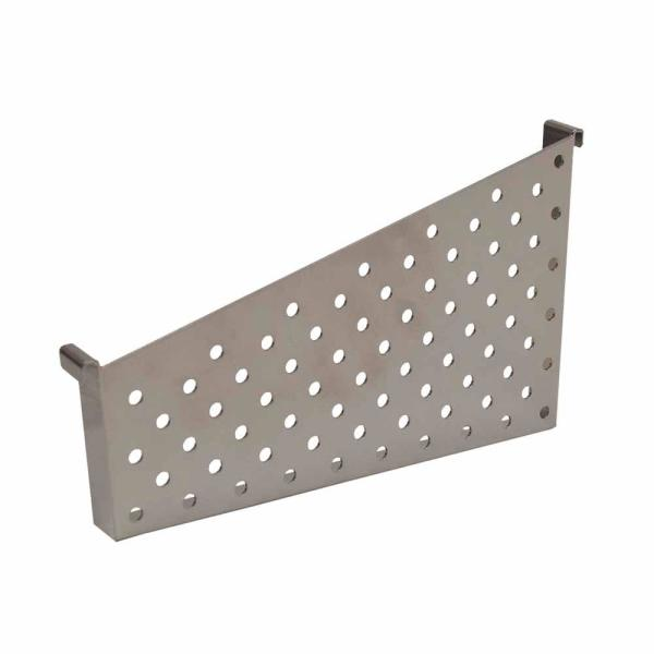KCF 10 in. D Dividers for Perforated Metal Basket, Silver (Pack of 2)