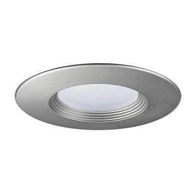 5 in. and 6 in. Brushed Nickel Recessed Baffled Trim