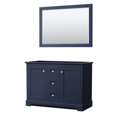 Avery 47.25 in. W x 21.75 in. D Vanity Cabinet Only with Mirror in Dark Blue