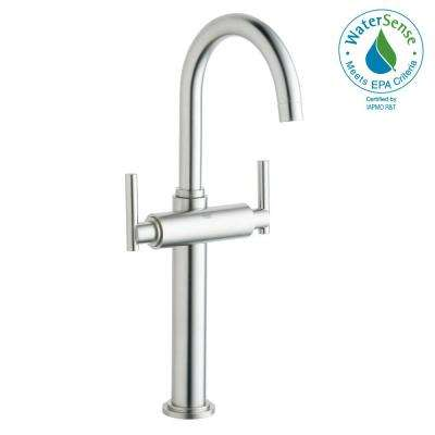Atrio Single Hole 2-Handle Vessel Bathroom Faucet in Brushed Nickel InfinityFinish (Handles Sold Separately)