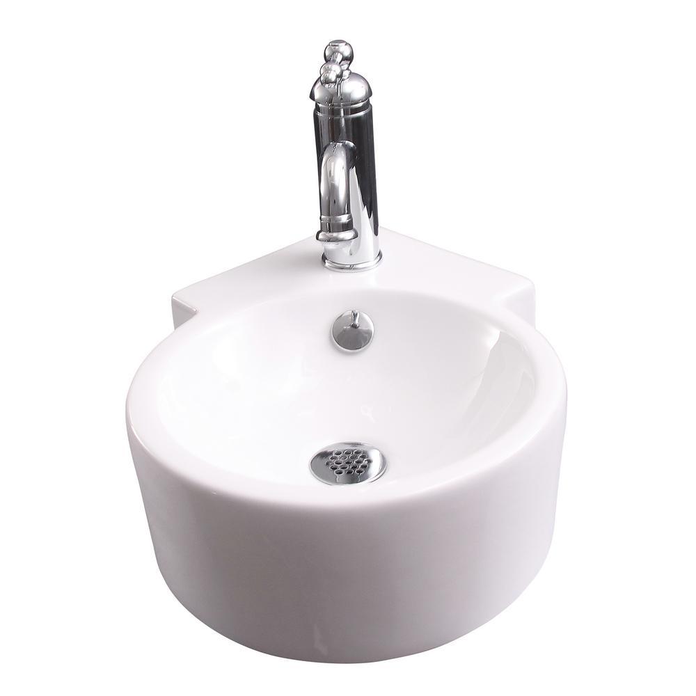Dyer Corner Wall-Mount Sink in White