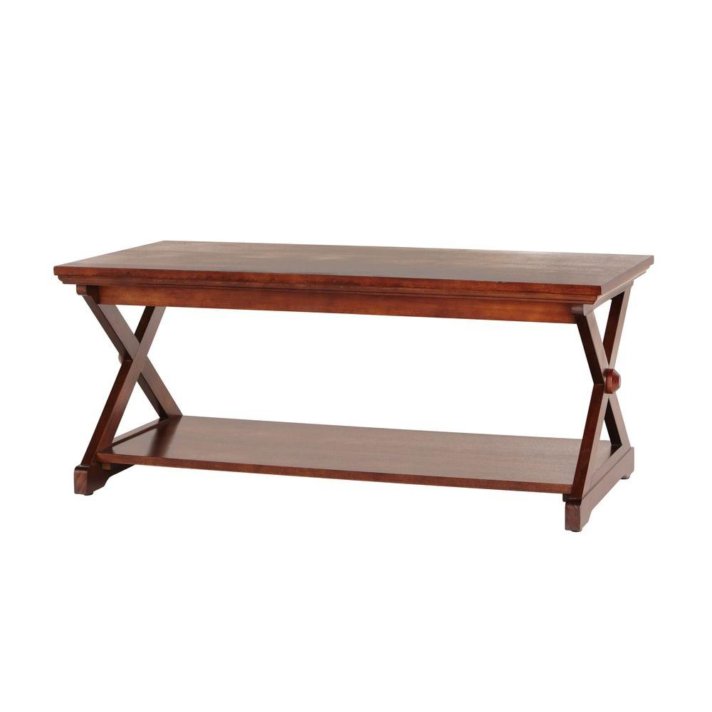 Home Decorators Collection Brexley Chestnut Coffee Table-DISCONTINUED