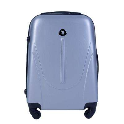 U.S Polo Assn. 21 in. Silver Carry-On Luggage Spinner
