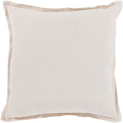 Cesky Cream Geometric Polyester 18 in. x 18 in. Throw Pillow