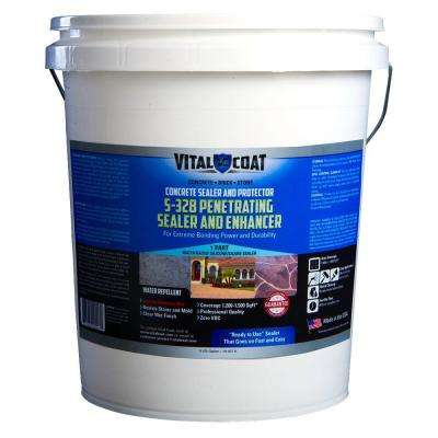 S-328 5 Gal. Ready-To-Use Water Base Silicon Satin Penetrating Sealer with Enhancer