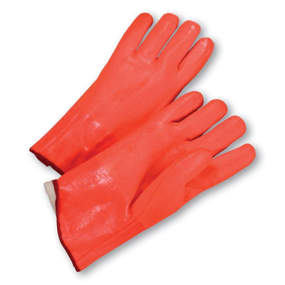 Standard Rough Grip PVC Interlock 12 in. Gloves - Dozen Pair