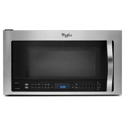 30 in. W 1.9 cu. ft. Over the Range Microwave with True Convection Cooking in Fingerprint Resistant Stainless Steel