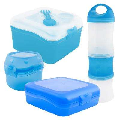 4-Piece Food Storage Container Assorted Pack in Blue