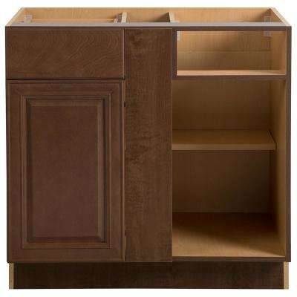 Benton Assembled 36x34.5x24.5 in. Blind Base Corner Cabinet in Butterscotch
