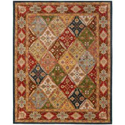 Heritage Green/Red 9 ft. x 12 ft. Area Rug