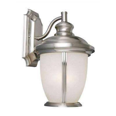 Bristol Satin Nickel Outdoor Wall-Mount Downlight