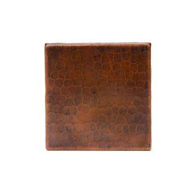 4 in. x 4 in. Hammered Copper Decorative Wall Tile in Oil Rubbed Bronze (4-Pack)