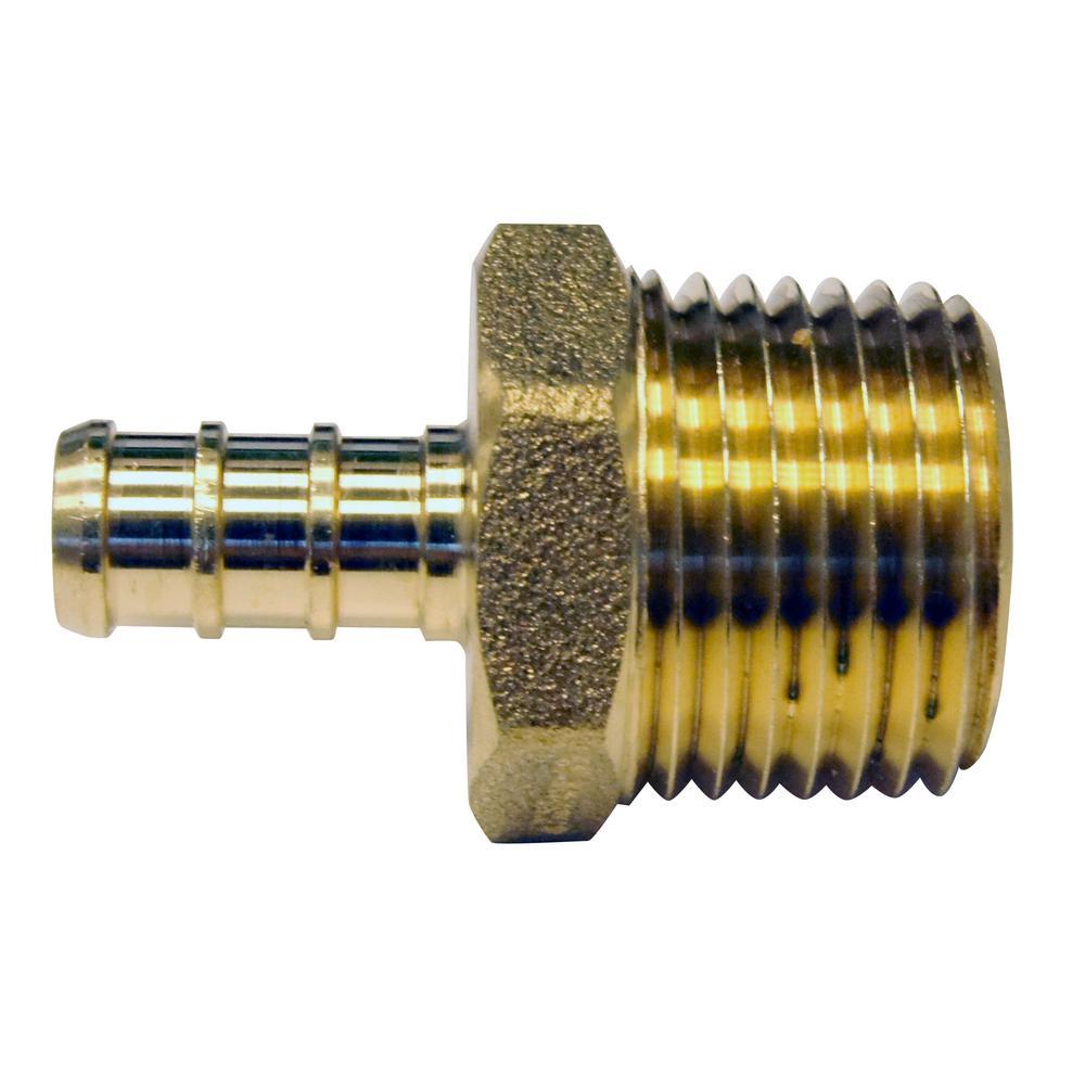 "Brass Crimp Fittings 25 3//8/"" PEX Tees"
