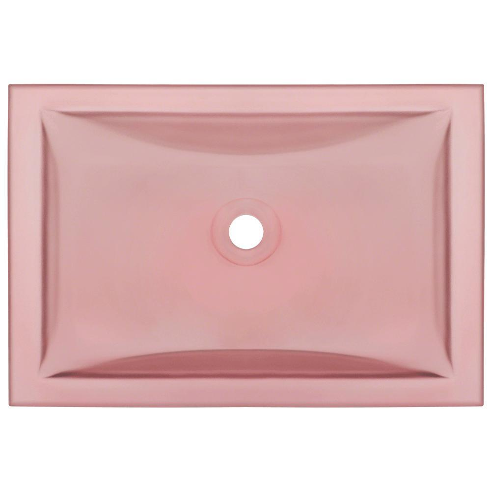 MR Direct Undermount Glass Sink In Coral