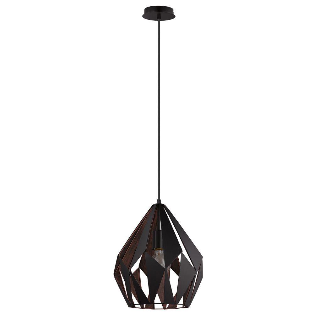 Carlton 1 Black and Copper Pendant Light