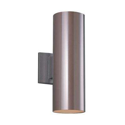Outdoor Cylinder Collection 1-Light Bronze Wall Lantern