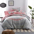 Maya 3-Piece Multicolored Geometric Cotton Queen Duvet Cover Set