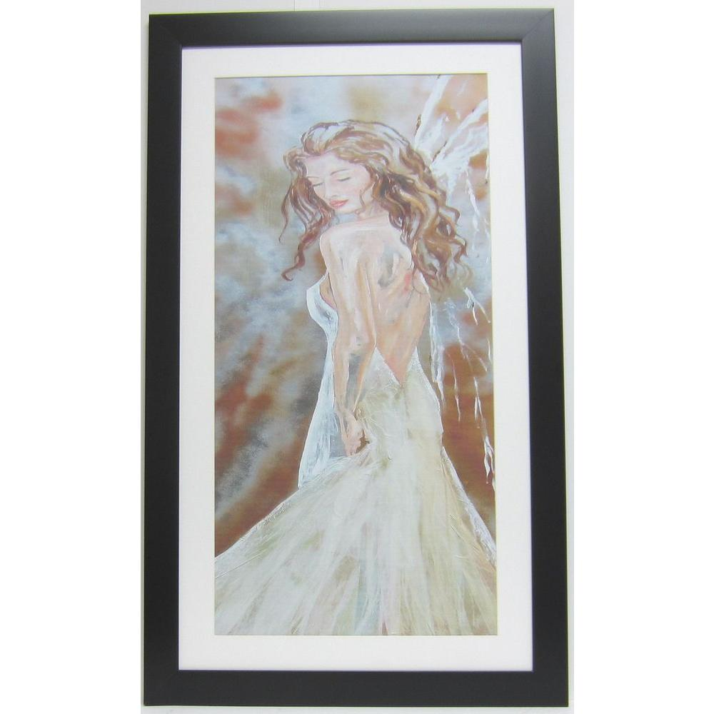 null 21 in. x 44 in. Limited Hand Signed & Numbered Summer Beauty Art by Tammie Rosen Framed Wall Art