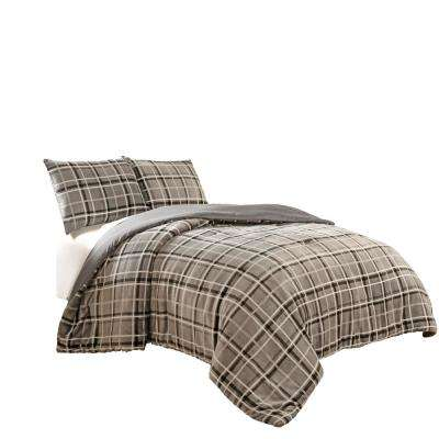 Casimir Plaid 3-Piece Smoke Comforter Set