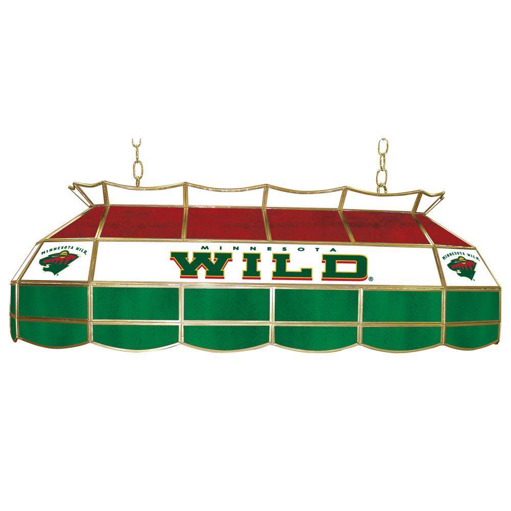 Trademark NHL Minnesota Wild 3-Light Stained Glass Tiffany Lamp