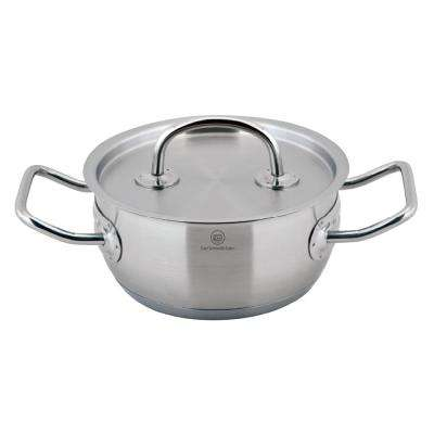 PRO-X 1 qt. Stainless Steel Stock Pot in Satin Stainless Steel with Lid