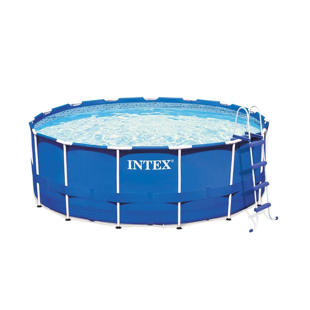 Intex 15 ft. x 48 in. Round Metal Frame Pool Set