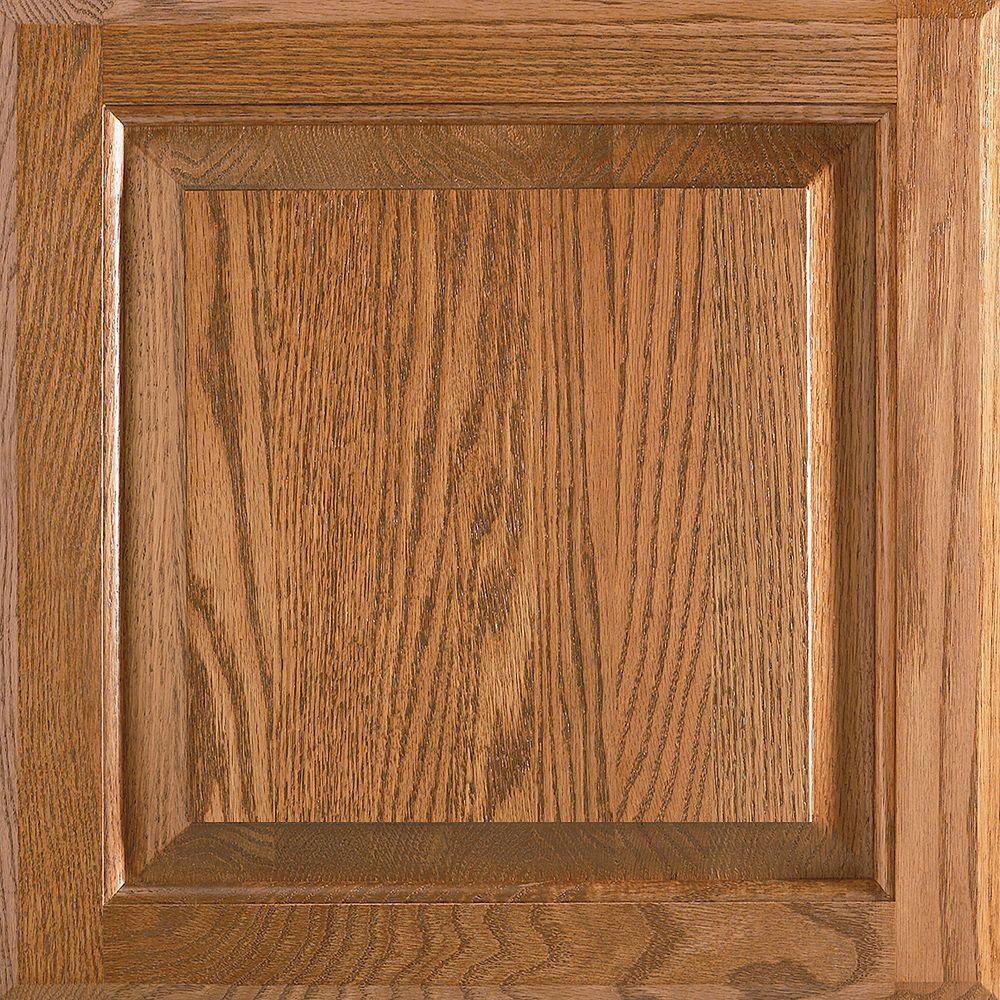 American Woodmark 14-9/16x14-1/2 in. Cabinet Door Sample in Charlottesville Oak Tawny