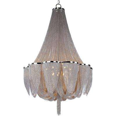Chantilly 14-Light Polished Nickel Entry Foyer Pendant