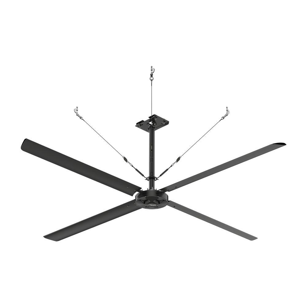 single pole indoor black anodized aluminum ceiling hunter industrial