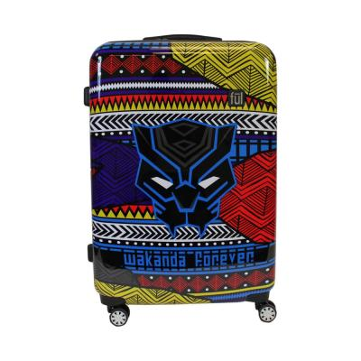 Black Panther Tribal Art 29 in. Black Hard Sided Rolling Luggage