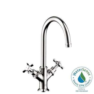 Axor Montreux Single Hole 2-Handle Bathroom Faucet in Chrome (Drain Not Included)