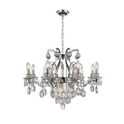 Minoan 11-light chrome chandelier