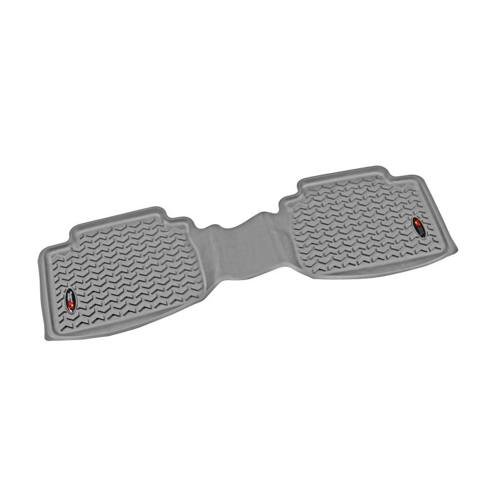 Floor Liner Rear 1-Piece Gray 05-11 Toyota Tacoma Double/Access Cab