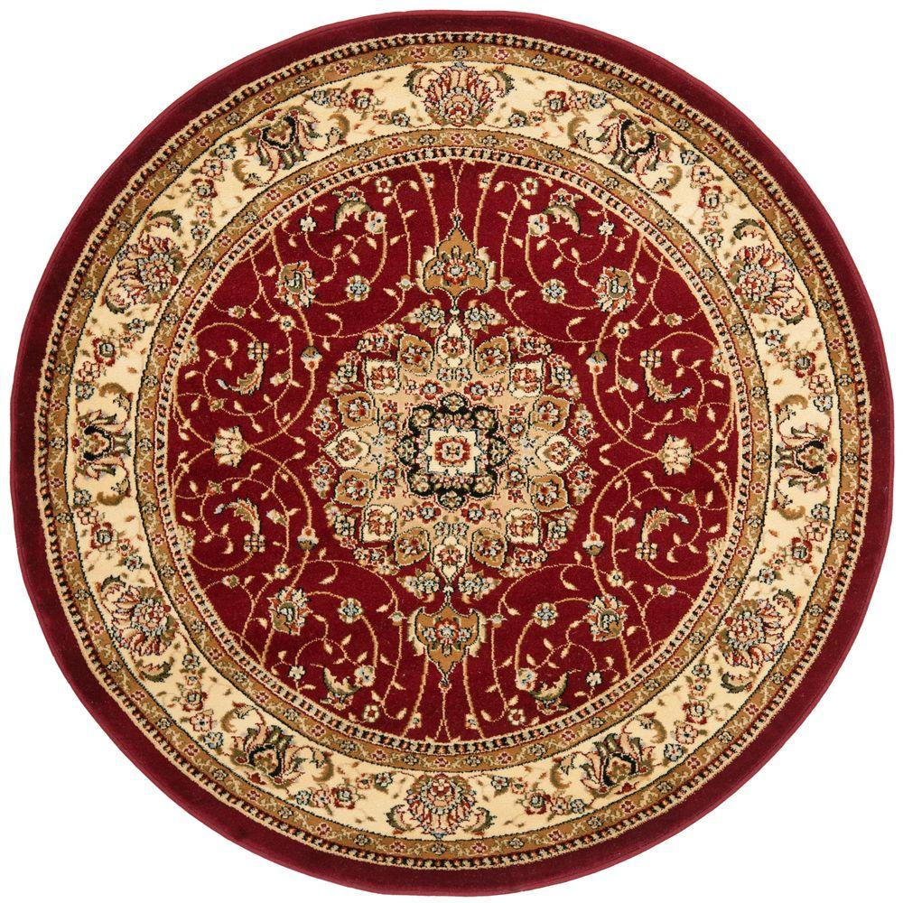 Safavieh Lyndhurst Red/Ivory 8 ft. x 8 ft. Round Area Rug