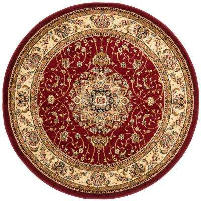 Lyndhurst Red/Ivory 8 ft. x 8 ft. Round Area Rug