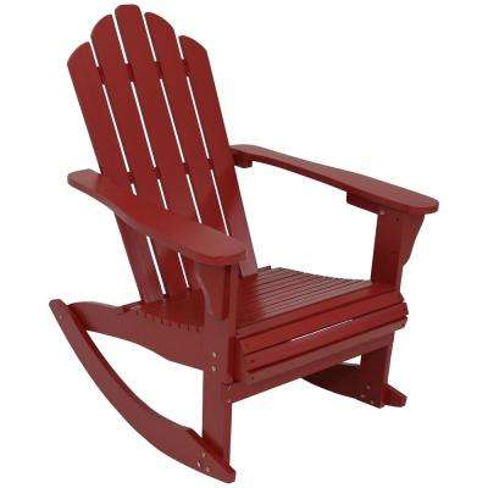Red Rocking Wood Adirondack Chair