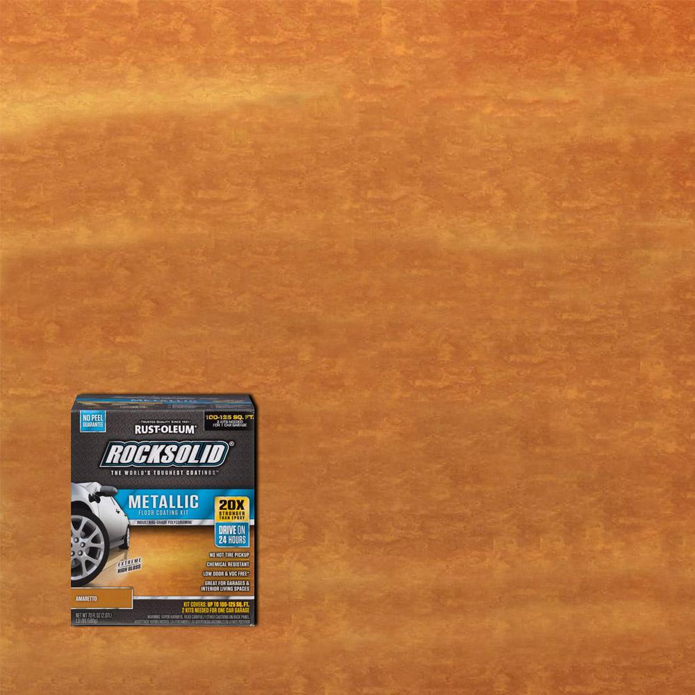 Rust-Oleum RockSolid 70 oz. Amaretto Metallic Garage Floor Kit (Case of 2)