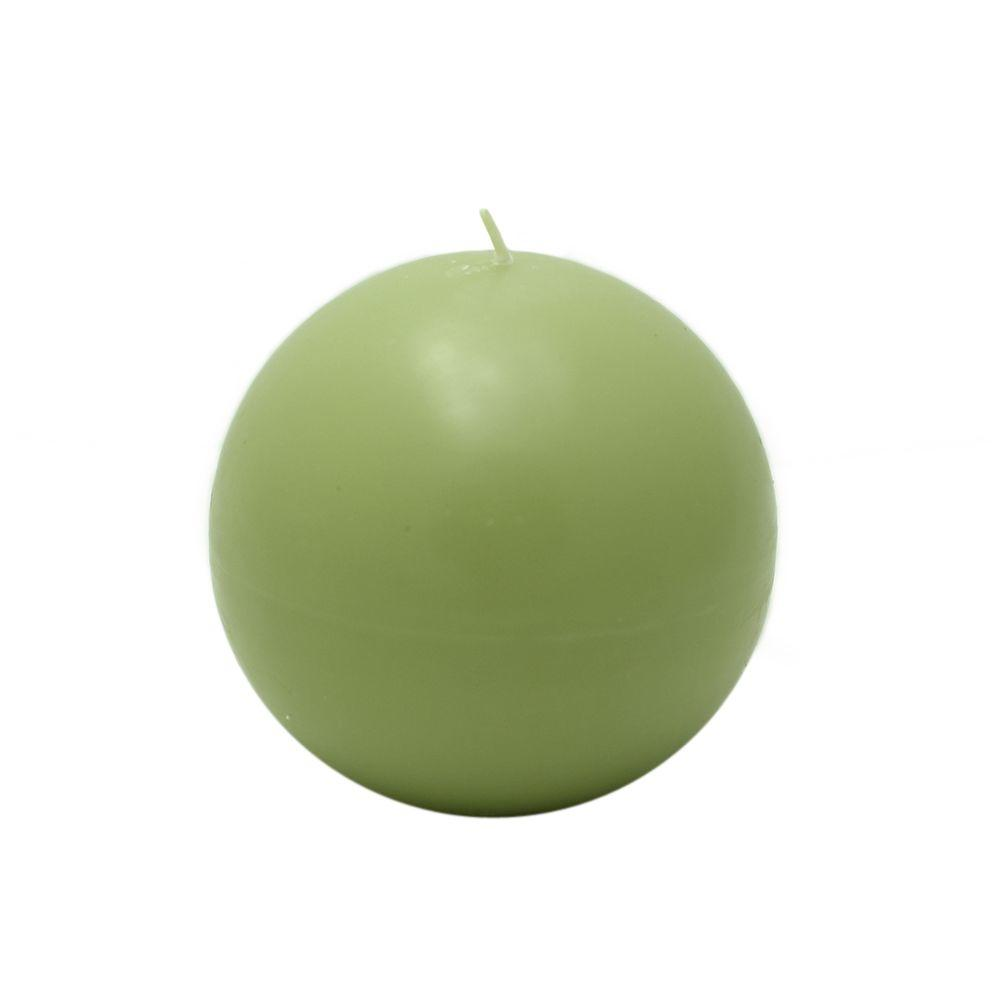 Zest Candle 4 in. Sage Green Ball Candles (2-Box)