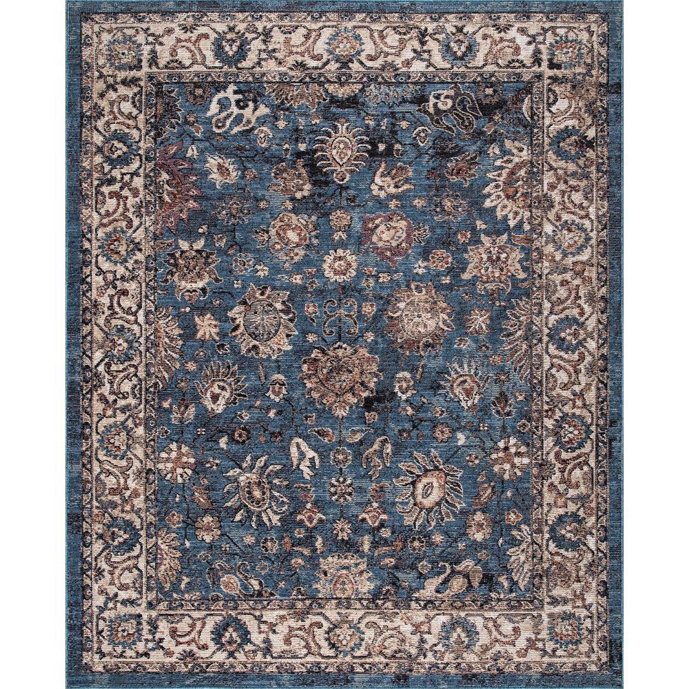 Gramercy Blue 5 ft. x 7 ft. Floral Area Rug