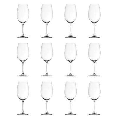 Red and White 12-Piece Clear Wine Glass Bundle