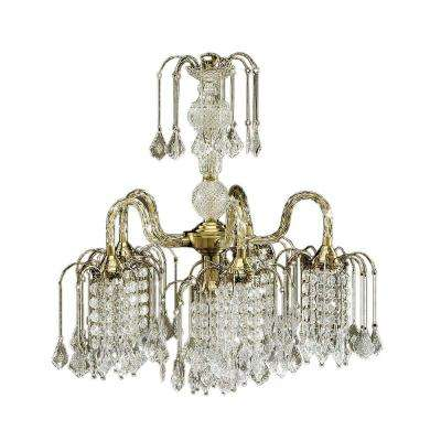 5-Light Antique Brass Chandelier